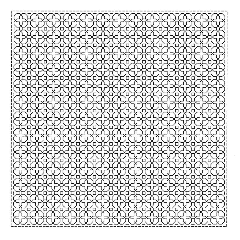 Sashiko Sampler - Hitome Zashi - Morning Glory White H-1065