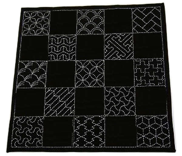 Sashiko Traditional Multi-Design Sampler - Navy SC-EM290