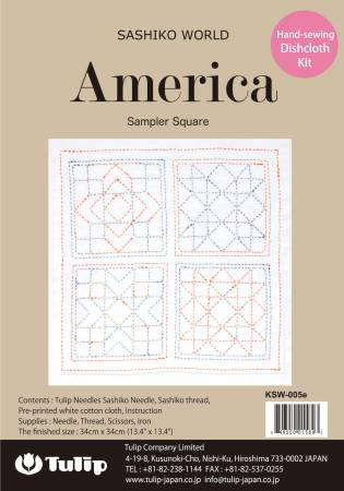 Sashiko World America Sampler Square Kit