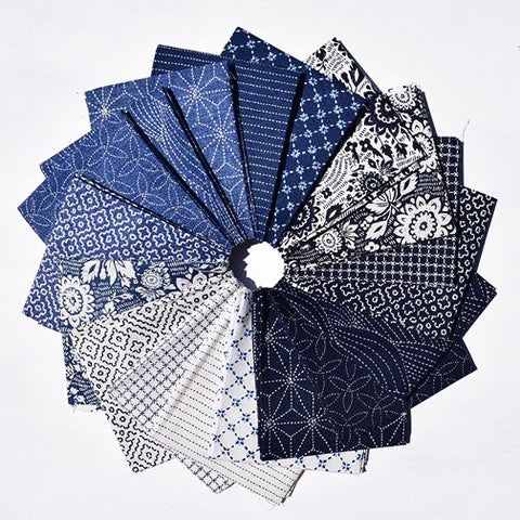 Sashiko Collection by Whistler Studios for Windham Fabrics - SASHFATQ-X Fat Quarter Bundle