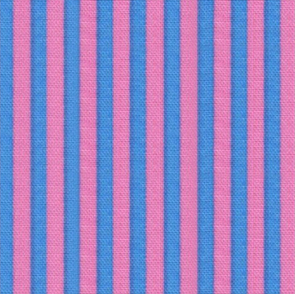 Stripe by Cosmo Textiles - Blue and Pink