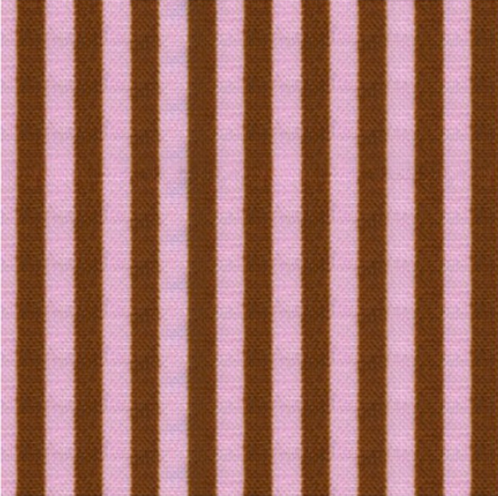 Stripe by Cosmo Textiles - Brown and Pink