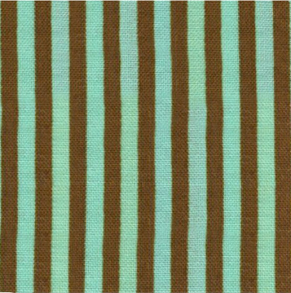 Stripe by Cosmo Textiles - Brown and Green