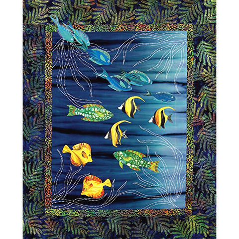Sea Grass and Fish Wall Hanging Pattern by Sylvia Pippen Designs