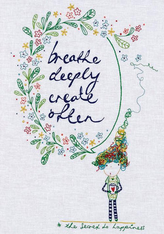 The Secret to Happiness designed by Natalie Lymer for Cinderberry Stitches