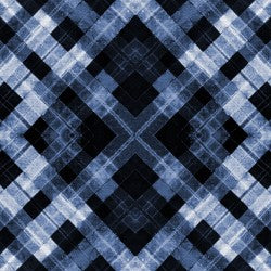 Shibori Dye Collection by Paintbrush Studio Fabrics - 120 21458 Plaid Indigo