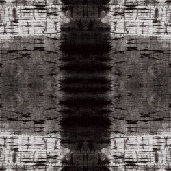 Shibori Dye Collection by Paintbrush Studio Fabrics - 120 21452 Pleat Plaid Black