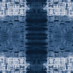 Shibori Dye Collection by Paintbrush Studio Fabrics - 120 21453 Pleat Plaid Indigo