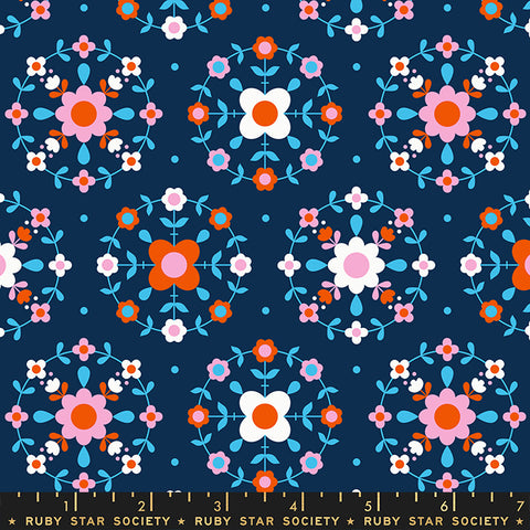 Smol Folkometry by Kimberly Kight for Ruby Star Society - RS3014 13 Navy
