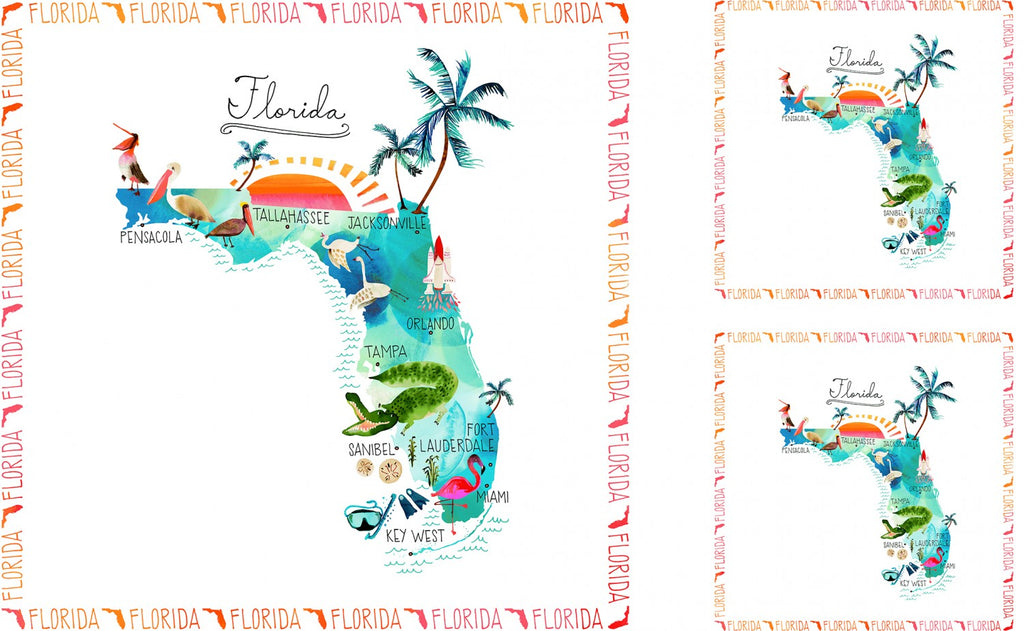 State Cotton Collection - Florida by Whistler Studios for Windham Fabrics