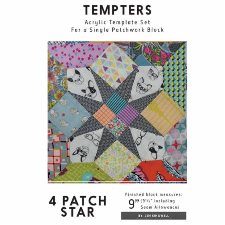 Tempters - 4 Patch Star by Jen Kingwell