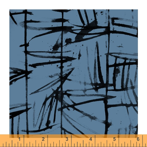 The Blue One by Marcia Derse for Windham Fabrics - 52043-4 Bamboo in Lake
