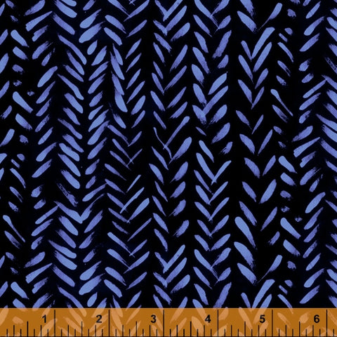 The Blue One by Marcia Derse for Windham Fabrics - 52044-5 Wheat in Blue Bell
