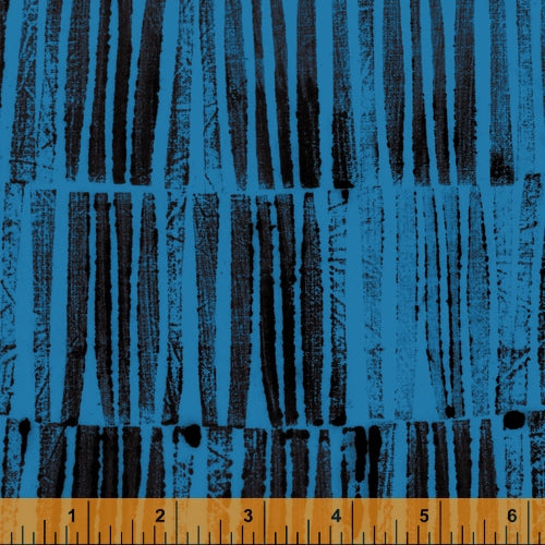 The Blue One by Marcia Derse for Windham Fabrics - 52046-10 Artists Proof in River Blue