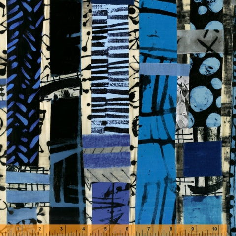 The Blue One by Marcia Derse for Windham Fabrics - 52186D-X Totem *Arriving Soon*