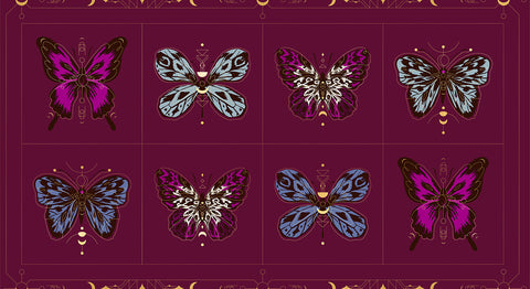 Tiger Fly Panels by Sarah Watts for Ruby Star Society: Purple Velvet RS2012 12M - Gossamer