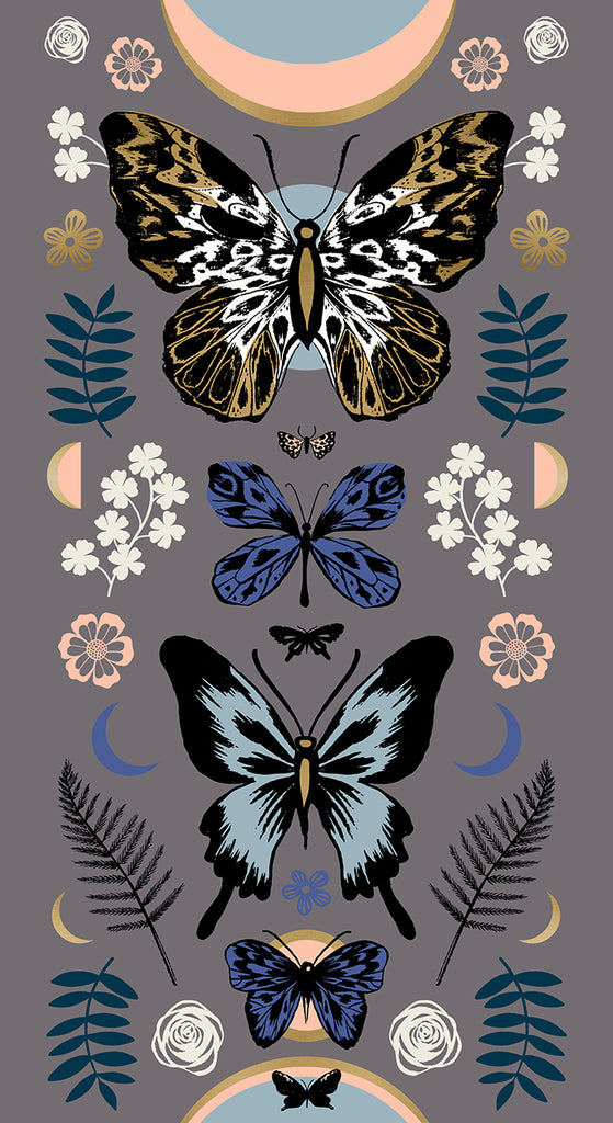 Tiger Fly Panels by Sarah Watts for Ruby Star Society: Slate Grey RS2011 14M - Mother **30% off**