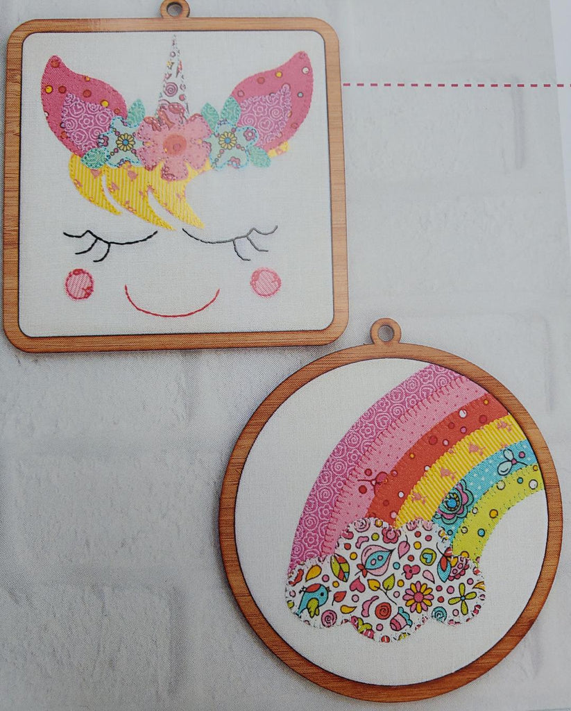 Unicorn and Rainbow Mini Frames by Tied With a Ribbon