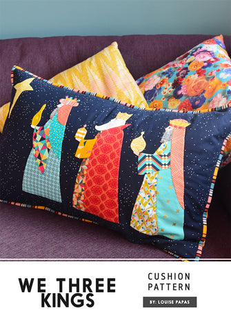 We Three Kings Cushion pattern by Louise Papas
