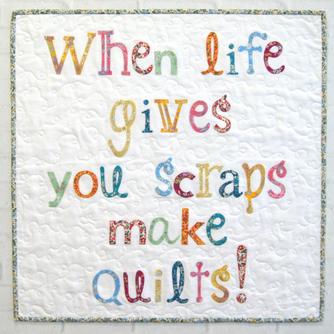 When Life Gives You Scraps Mini Quilt Pattern or Quick Cut Kit by Tied with a Ribbon