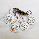 Woodland Ornaments Embroidery - PDF Download