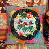 Yo-Yo Bloom Pillow pattern by Rachaeldaisy Designs