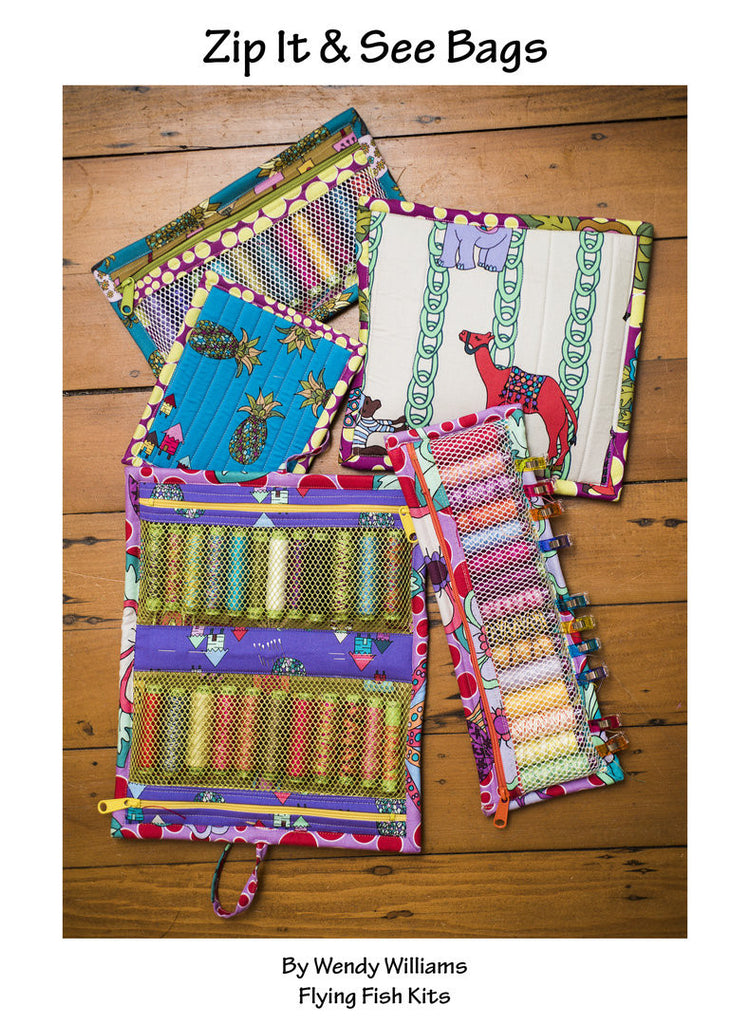 Zip It & See Bags Pattern by Wendy Williams