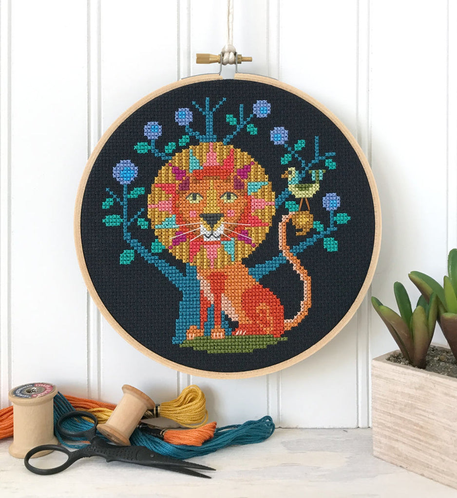 Zodiac Leo Cross Stitch Design by Satsuma Street
