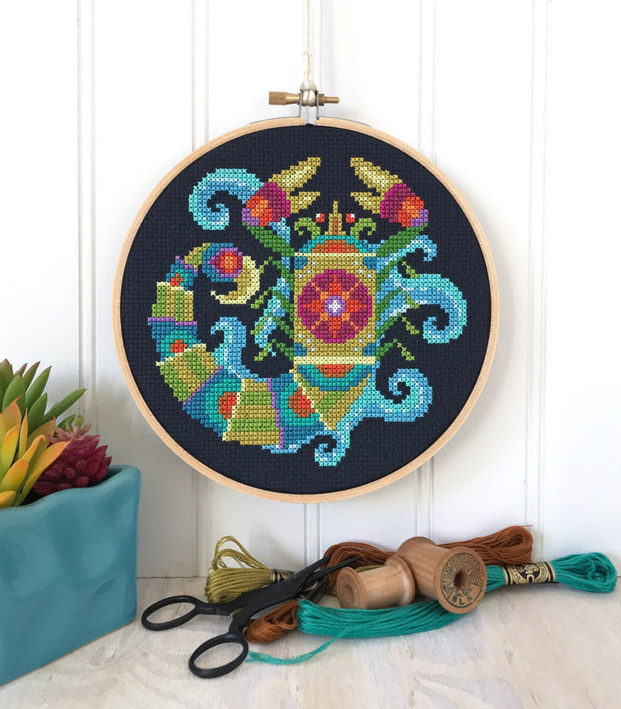 Zodiac Scorpio Cross Stitch Design by Satsuma Street