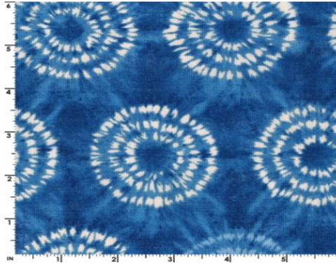Ai-Nikki by Kokka Fabrics - KOKLGA 36080-1-B Circles on Light Indigo
