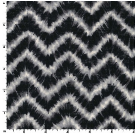 Ai-Nikki by Kokka Fabrics - KOKLGA 36080-2-D ZigZag on Black