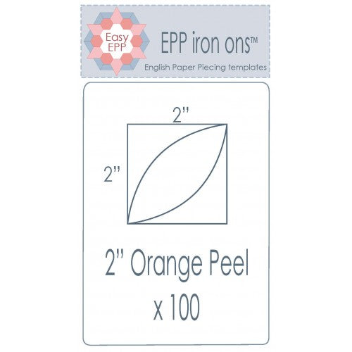 2 inch Orange Peels EPP iron ons by Hugs'n Kisses