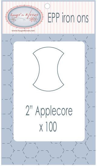 2 inch Applecore EPP iron ons by Hugs'n Kisses