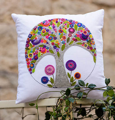 Mini Tree of Life Cushion Pattern by Wendy Williams
