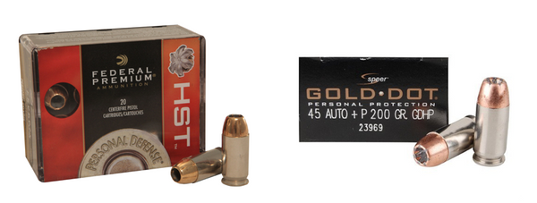 Federal HST and Speer Gold Dot Ammo