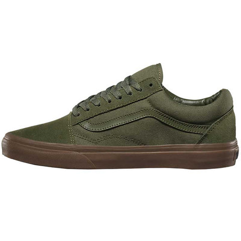 Old Skool Suede Canvas Winter Moss