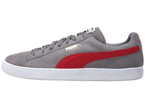 PUMA SUEDE CLASSIC+ STEEL GREY / CHERRY - 8 One Sneaker House  - 1
