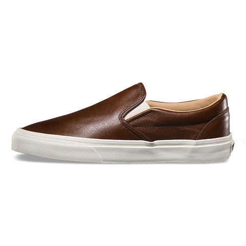 Classic Slip On Lux Leather Shaved Chocolate