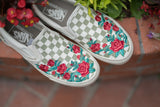 Slip On Embroidered Rose