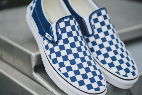 Slip On Checkerboard Estate Blue