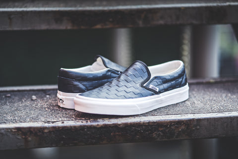Women's Slip On Leather Checkerboard