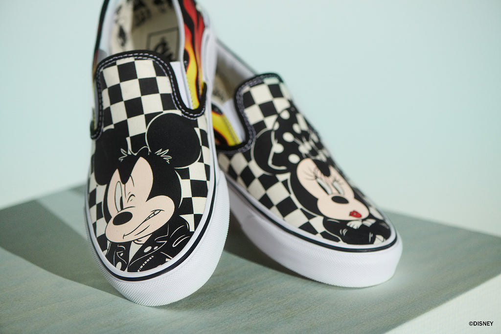 Classic Slip On Disney Mickey Flame