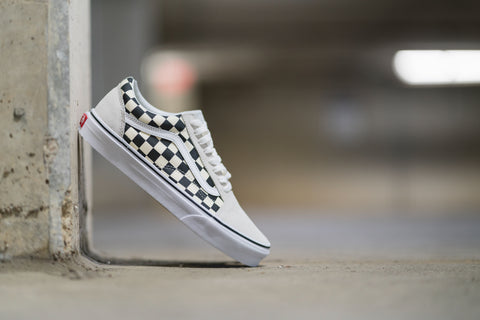 Old Skool Checkerboard White