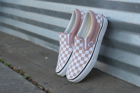 Slip On Checkerboard Mahogany Rose