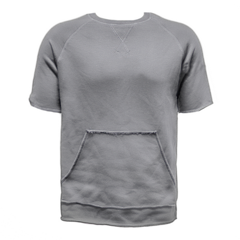 Raw Cut French Terry Top Grey