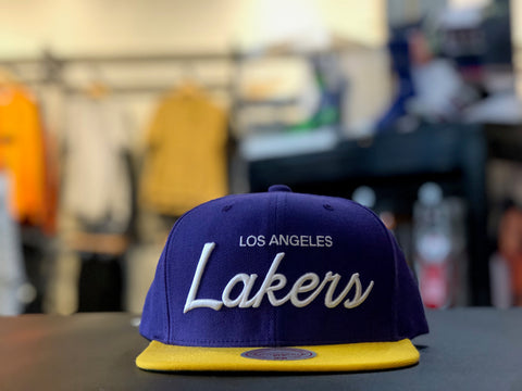 NBA Script Snapback Lakers