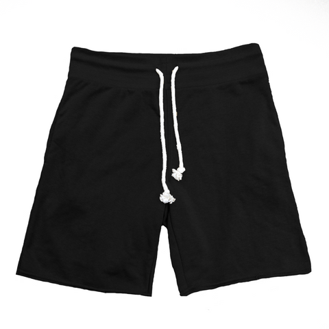 Raw Cut French Terry Short Black