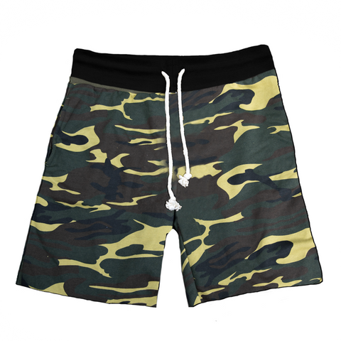 Raw Cut French Terry Short Camo