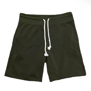 Raw Cut French Terry Short Olive