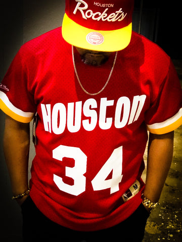 Olajuwon Name & Number Mesh Crewneck